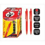 Statemans Stationery CLIC PENS 50's RED INK 309650REDL657