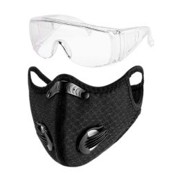 Health Protection Kit-reusable Respirator Mask With Filter And Safety Goggle