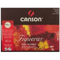 CANSON Figueras - Oil & Acrylic Paper - Pad - 19X25CM - 7X10IN - Canvas  Texture   R   Arts & Crafts   PriceCheck SA