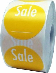 Labels Yellow With Write Your Own Price - Retail Stickers For Store Clearance Items - 1.5 Round - 500 Total Stickers Per Roll