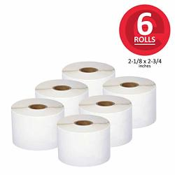 "Enko 6 Rolls 2400 Labels Address Shipping & Barcode Labels 30324 2-1 8"" X 2-3 4"" Compatible For Dymo Labelwriter"
