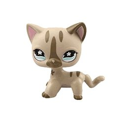 CROSSED3_PET Toy Store Lps Toy Pet Short Hair Cat Animal Child Girl Boy Figure Loose Cute Standing Cat Mask Short Hair Choose Your Cat For Kids Gift