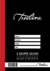 A4 Hard Cover 2 Quire Quad Ruled Counter Book 192 Pages