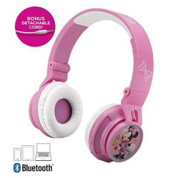 Minnie Mouse Bluetooth Headphones For Kids Wireless Rechargeable Kid Friendly Sound Minnie Mouse