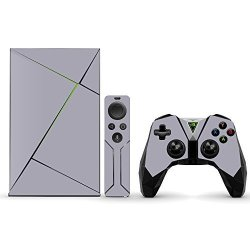 MightySkins Protective Vinyl Skin Decal For Nvidia Shield Tv Wrap Cover Sticker Skins Solid Gray