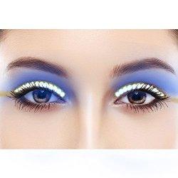Orino LED Eyelashes Sound Control Waterproof Shining False Lashes Eyeliner For Party Concert Raves Or Halloween Cosplay