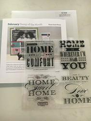 Close To My Heart S1302 Home Sweet Home Stamp Of The Month My Acrylix Stamp Set Ctmh