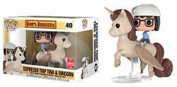 Funko Pop Rides 40 Bob's Burgers Espresso Trip Tina & Unicorn 2018 Summer Convention Exclusive