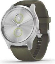 Garmin Vivomove Style Hybrid Smartwatch Moss Green silver