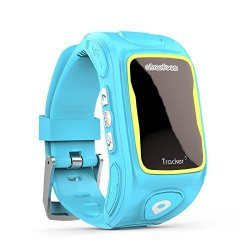 Abardeen KT01W Smart Watch For Kids Tracker Gps Locator Tracker Sos Phone Smartwatch Ios Android Blue