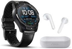TICWATCH Bundle With Pro 2020 Smartwatch 1GB RAM Gps Dual Display - Black + Ticpods 2 True Wireless Earbuds - Ice