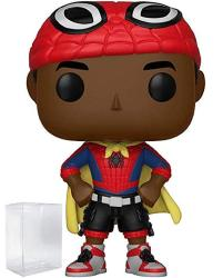 Funko Pop Animated Spider-man Movie: Into The Spider-verse - Miles Morales Unmasked With Cape Vinyl Figure Includes Pop Box Protector Case