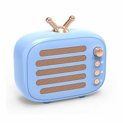 Wireless Stereo Retro Speaker Dosmix Portable Bluetooth Vintage Speaker With Built-in MIC 12 Hours Playtime Tf Card Aux For Kitc