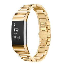 Link Stainless Steel Band For Fitbit Charge 2 - Gold