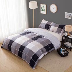 Karever 100 Cotton Duvet Cover Set Soft Queen Size 3 Piece