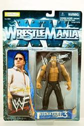 Jakks Wwf - Wrestle Mania Xv - 1998 - Signature Series 3 - Rocky Maivia The Rock Action Figure - Display Base -