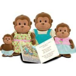 Li& 39 L Woodzeez With Book - The O& 39 Funnigan Monkey Family