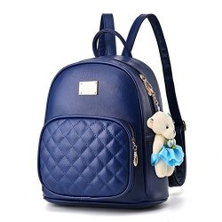 1cdef0617e Women Leather Backpack Purse Satchel School Bags Casual Travel Daypacks For  Girls