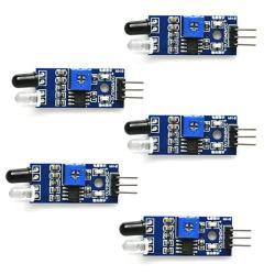 Gikfun Obstacle Avoidance Ir Infrared Sensor Module Reflective Photoelectric Light Intensity Diy Kit For Arduino Uno Pack Of 5PCS EK1254X5