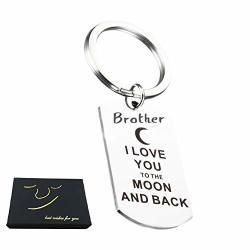 Brother Keychain From Sister Brother - Brother Inspirational Key Chain Dog Tag Brother Gifts From Sister Brother