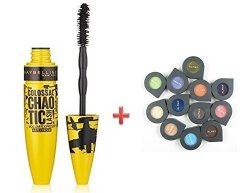 78ed628bc40 Maybelline Volum'express The Colossal Chaotic Mascara 219 Blackest Black +  Gift 1 Almay Eye