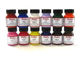 BRAND Angelus Acrylic Paint Starter Kit 12 1oz Leather Vinyl Sneaker