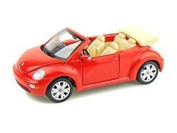 Volkswagen New Beetle Cabriolet 1 25 Red - Maisto Diecast Models