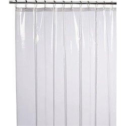 LiBa Mildew Resistant Anti-bacterial Peva 8G Shower Curtain Liner 72X72 Clear - Non Toxic Eco-friendly No Chemical Odor Rust Pro