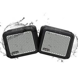 Bluetooth 2PACK Speakers Zamkol Outdoor Speakers Waterproof IPX7 Wireless Stereo Pairing Loud Deep Bass Tws Built-in 5200MAH Pow