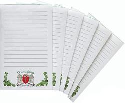 USA O'loughlin Irish Coat Of Arms Notepads - Set Of 6