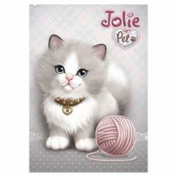 Diamond Painting Zeshlla Cute Cat Diy 5D Diamond Painting Kits Full Drill Cross Stitch Painting For Home Cafe Bookshop Decoration 30X40CM