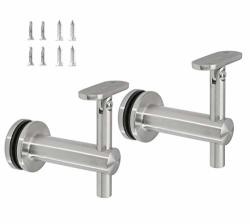 Stainless Steel 316 Grade Glass Railing Adjustable Staircase Handrail Bracket For Square Rectangle Tubing GB-210S Satin Finish 2