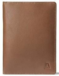 Leather Architect Men's 100% Leather Rfid Blocking Passport Holder With 3 Slip-in Pockets Black