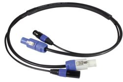 Blizzard Powercon Plus 3-PIN Dmx Combo Cable 3FT - New
