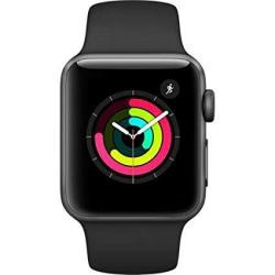 Apple Watch Series 3 42mm in Space Gray & Black Sport Band