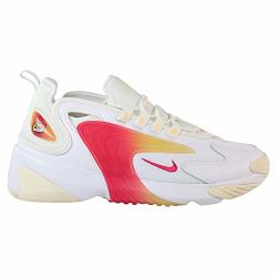 Nike Women's Zoom 2K White rush Pink sail melon Tint Synthetic Cross-trainers Shoes 8.5 M Us