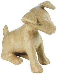 Decopatch MA025 Decoupage Papier Mache Animal Medium Size Jack Russell Dog