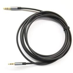 BLACK 6ft Gold Plated Design 3.5mm Male To 2.5mm Male Car Auxiliary Audio Cable Cord Headphone Connect Cable For Apple Android S