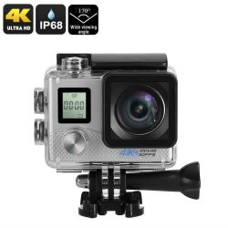 4K Sports Action Camera Silver
