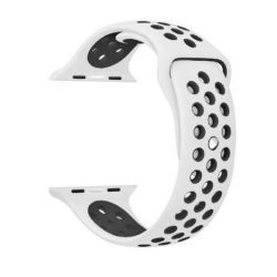 White And Black 38MM S m Nike Style Strap Band For Apple Watch