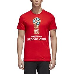 SLD Of The Adidas Group Adidas World Cup Soccer World Cup Emblem Men's Tee XL Red