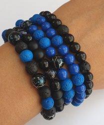 Beaded Bracelets - Dark Blue And Black