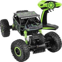 Click N Play Rock Crawler Rc Car Green Vehicle