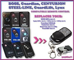 Boss Guardian Steel Line Guardlift Centurion Lynx & Modern Compatible Remote Control Replacement Transmitter For Garage Door Openers Top Quality Key Fob 303MHZ