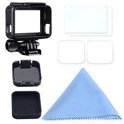 Suptig Frame Screen Protector Lens Cap For Gopro Hero 6 Black Gopro Hero 5 Black Gopro Hero 5 Action Camera