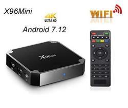 Huafeliz Smart TV Box Android 7.1 X96 Mini Amlogic S905W Quad Core Set
