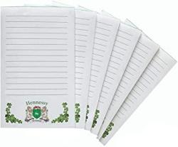 USA Hennessy Irish Coat Of Arms Notepads - Set Of 6