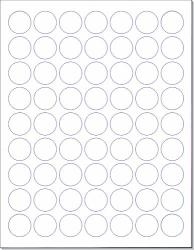 """Next Day Labels Laser ink Jet White Labels 1"""" Round - 63 Per Page 6300 Labels"""