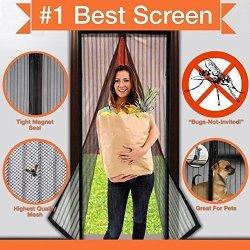 """Aello Magnetic Screen Door Full Velcro. Fits Door Openings Up To 34""""X82"""" Max 100% Guarantee"""