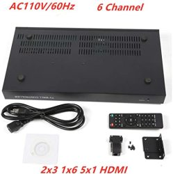 TFCFL 6 Channel Video Wall Controller Ac 110V 60HZ 2X3 3X2 HDMI Dvi Vga USB Video Processor With RS232 Control For 6 Tv Splicing Tv Electronics Mounts